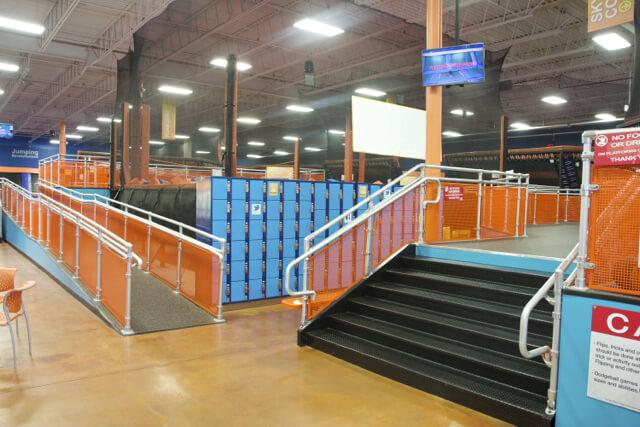 Sky Zone trampoline park interior