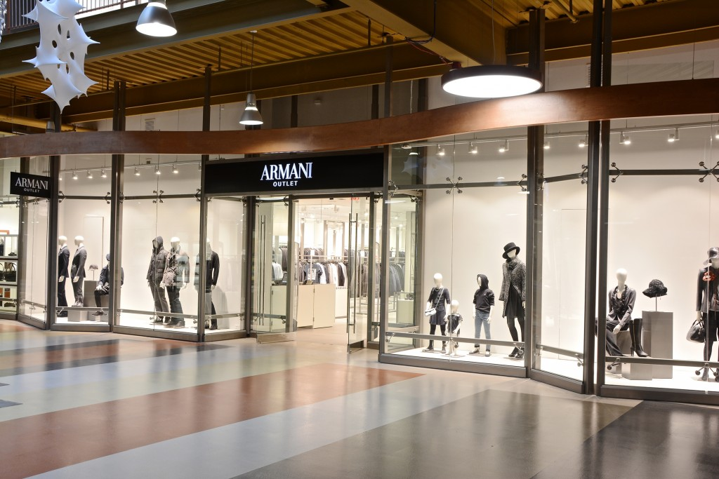 Armani Outlet retail store exterior